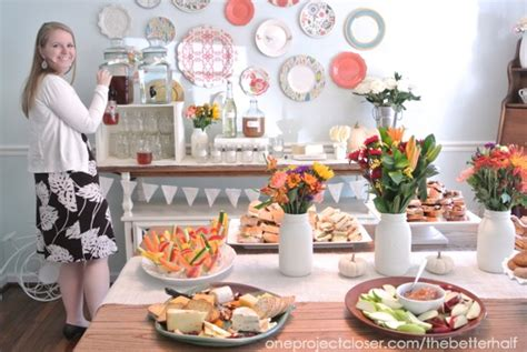 fall bridal shower ideas and jars one project