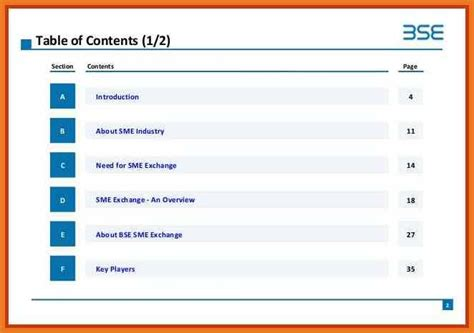 powerpoint table of contents art resume skills