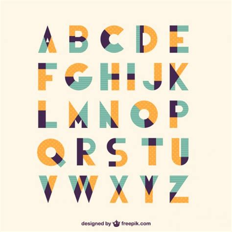 vectorial design font retro vintage type font vector free download
