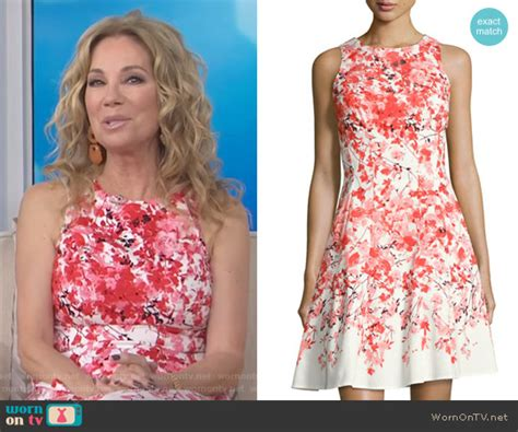 maggie london lace dress kathie lee and hoda ambush makeover wornontv kathie s white floral print dress on today