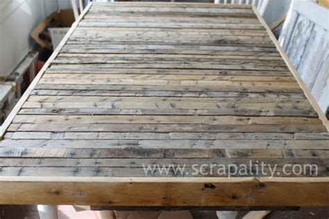Pallet Kitchen Island by Pallet Runner Countertop Unfinished
