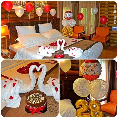 how to surprise your husband in the bedroom romantic decorated hotel room for his her birthday
