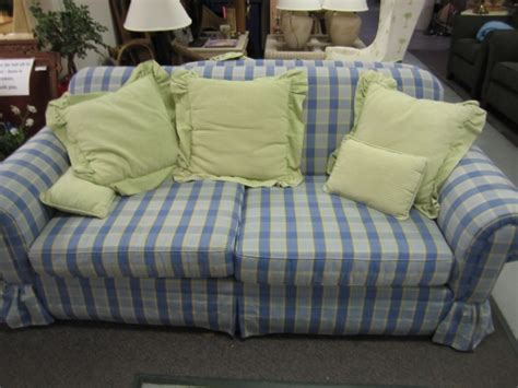 blue plaid sofa loveseat in johns island sc