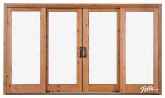 4 panel sliding patio doors pella 174 architect series 174 4 panel sliding patio door
