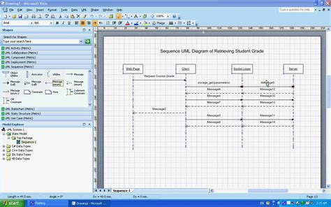 use of microsoft visio sequence uml diagrams exle understanding creating