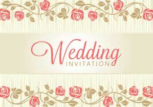 Invitation Marriage Vintage Wedding Backgrounds Freecreatives
