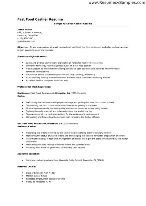 resume sle for cashier resume sles for cashier groundskeeper resume sle 28