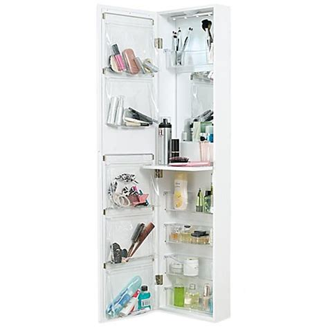 over the door organizer door solutions over the door mirror and cosmetic organizer bed bath beyond