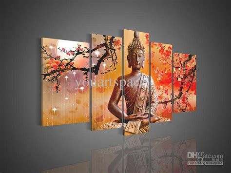 buddha oil painting wall art paintings picture paiting 5 panel wall art buddha 5 panel wall art buddha bamboo