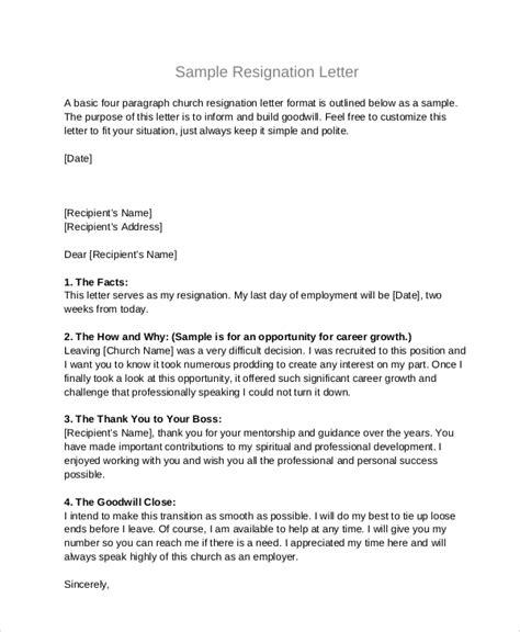 professional resignation letter formatpdf write college