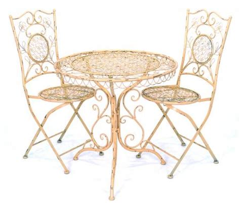 Cast Iron Bistro Table And Chairs Cast Iron Antique Look Bistro Table And 2 Chairs Set Built To Last White Jf008