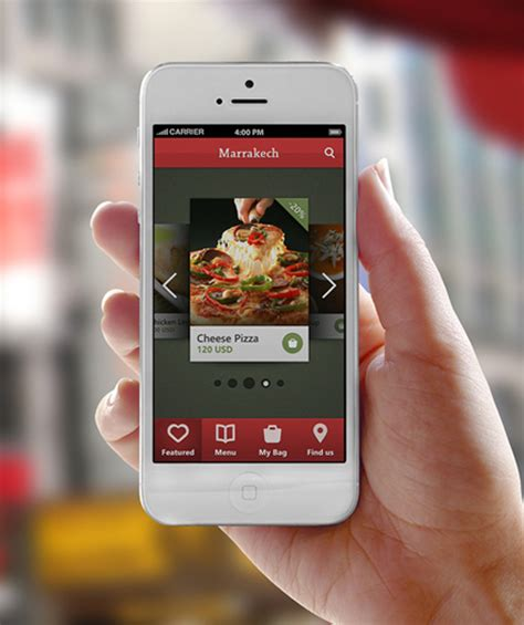 design restaurant app mobile app ui design with great user experience