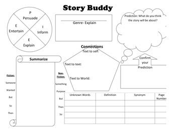 printable reading comprehension graphic organizers reading comprehension graphic organizer the story buddy