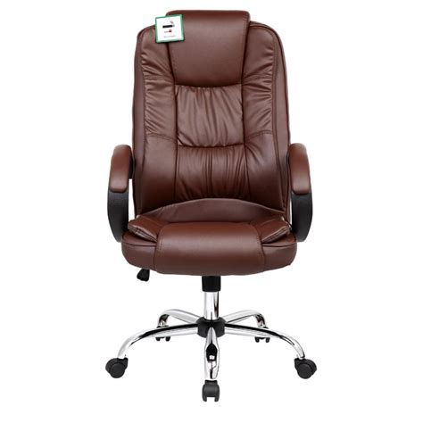 chair computer desk santana brown high back executive office chair leather