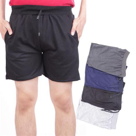 celana pendek pria bahan adem 4 warna pinggang karet