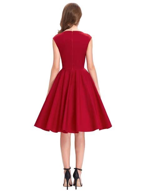 Tiffany Red Sweetheart Swing Dress 1950sglam