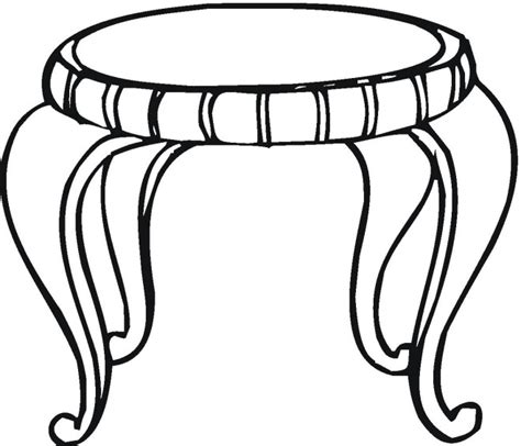 coloring table free image of table coloring pages