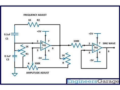 wien bridge oscillator circuit to generate frequency