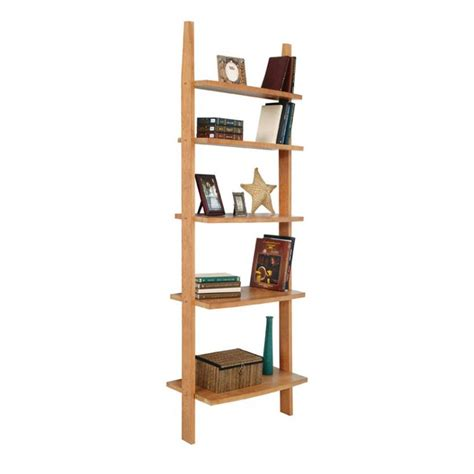 Modern Wooden Ladder Style Bookshelf Solid Wood Ladder Style Bookcases