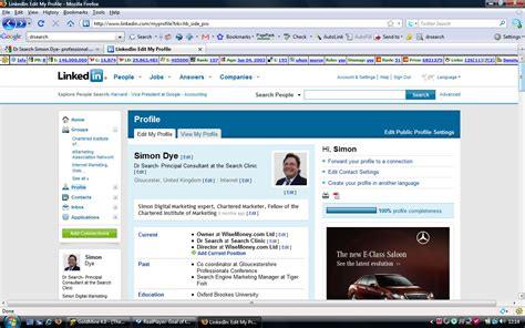 Search Profiles Dr Search Simon Dye Linkedin Marketing Professional