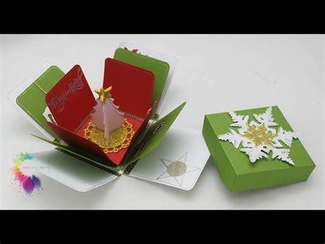 tutorial scatola scrapbooking christmas explosion box tutorial scatola con sorpresa