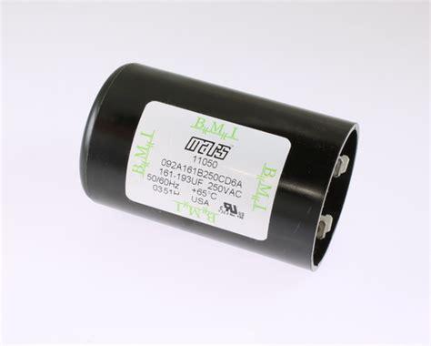 mars start capacitors 092a161b250cd6a bmi mars capacitor 161uf 250v application motor start 2020063527