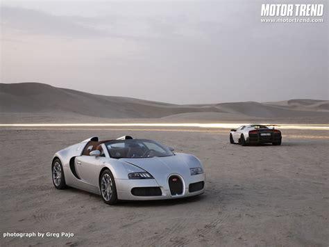 Bugatti Veyron And Lamborghini Bugatti Veyron 16 4 Grand Sport Vs Lamborghini Murcielago