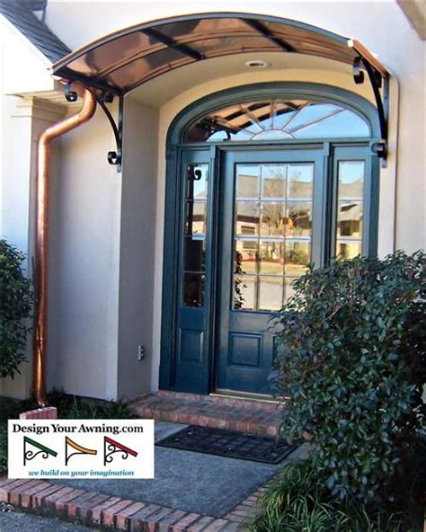 awning above front door copper awnings above front doors the eyebrow copper awning