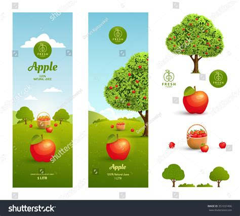 shutterstock design elements and layout vector pack apple juice packaging design template design stock vector