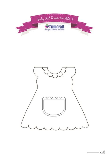 Shaped Card Template by Apron For The Baby Dress Shaped Card Tutorial With