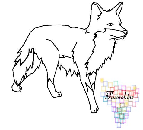 fox template fox template by queenyami on deviantart