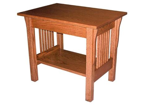 mission accent table amish prairie mission large end table