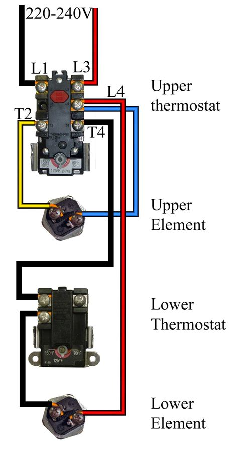 wiring diagrams electric water heater circuit and