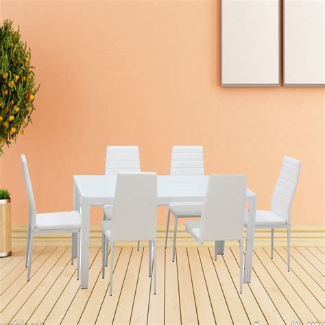 1 set white 7 home dining kitchen furniture