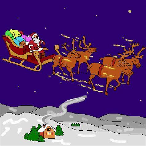 imagenes de santa claus en su trineo para colorear un color de navidad hecho por gh