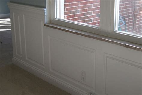 Wainscoting Around Windows Wainscoting Panel Classic Raised Panel Dining Room In