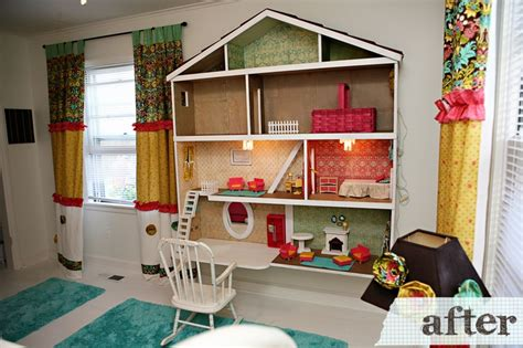 best doll house dollhouse built into wall play area pinterest