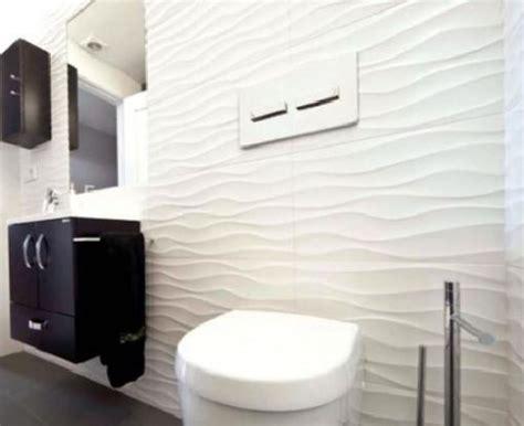 wavy bathroom tile designer textured glossy white decor wave 3d effect wavy