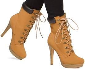 rugged yet stylish heeled construction boots