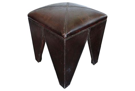 south cone furniture peru heavy stitched leather stools from south cone modernism