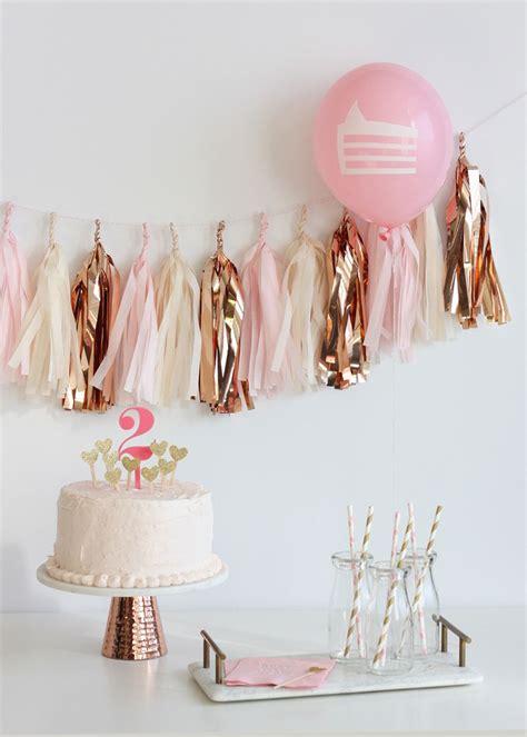 theme rose gold rose gold fringe tassel garland kit gold birthday
