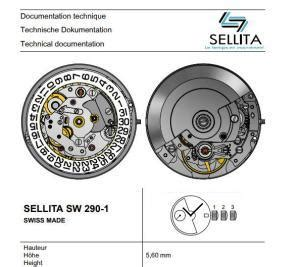 sellita sw 290 1 movement – specifications and photo