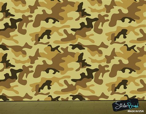 camouflage wall murals desert brown camo camouflage wall mural 6062