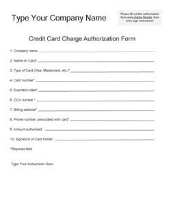 need a fillable credit card authorization form? | icandy