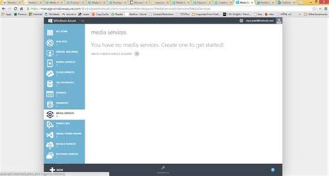 azure management console working with windows azure media services