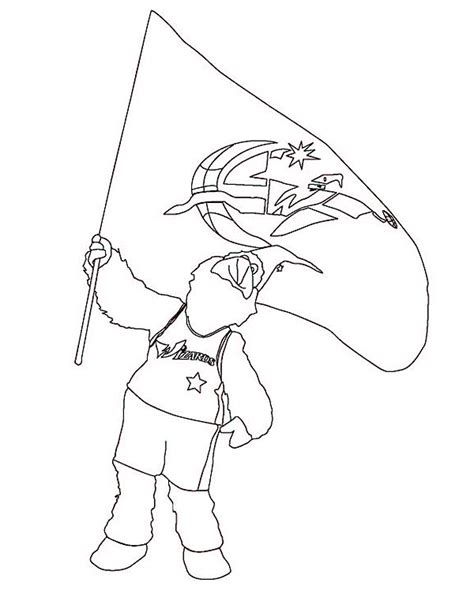 nba mascots coloring pages free coloring pages of mlb mascot
