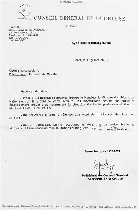 exemple lettre de demission lycee professionnel
