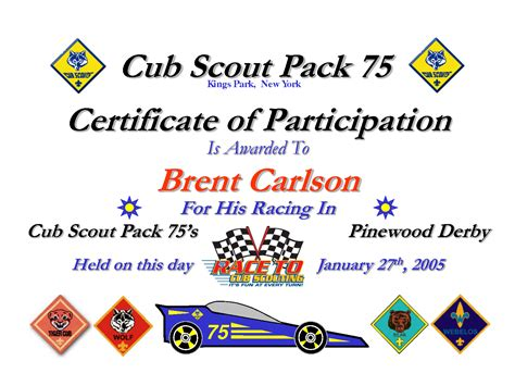 cub scout certificate templates best photos of cub scout invitation template cub scout