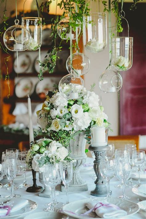 Hanging Glass Candle Holders For Weddings by Grey Urn Wedding Centrepieces The Wedding Of My Dreams