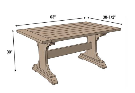 Dining Table Blueprints Monastery Dining Table Free Diy Plans Rogue Engineer